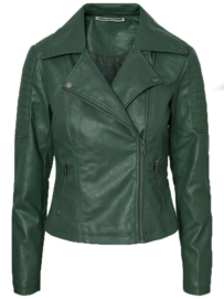 Noisy May Rebel Pu Jacket Look Leather Green