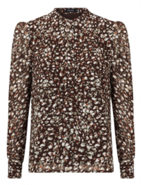 Ydence Marie lou Brown Leopard blouse