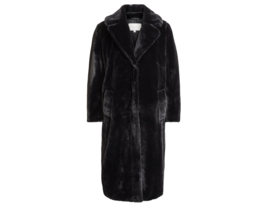 Vila koda faux fur coat black