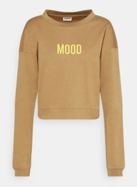 Noisy May nmozzie cropped sweat Tigers eye