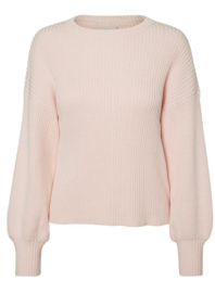 Noisy May Vete Long Sleeve O-Neck Knit Pink