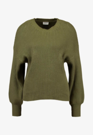 Noisy May Vete Long Sleeve O-Neck Knit Ivy Green