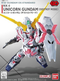 Gundam: SD EX-Standard 005 - Unicorn Gundam Model kit