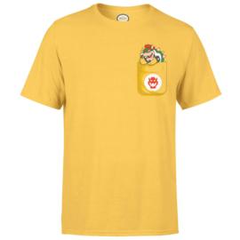 Nintendo T-Shirt Bowser Pocket  - maat: XL