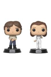Funko Pop! Star Wars POP! Movies Vinyl Figures 2-Pack Han & Leila Empire Strikes Back 40th Anniversary 9 cm