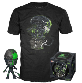 Funko Pop! Alien POP! & Tee Box 40th Xenomorph Exclusive Maat L