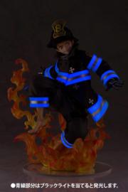Fire Force ARTFXJ Statue 1/8 Shinra Kusakabe Glows in the Dark 21 cm