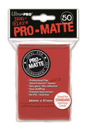 SLEEVES Pro-Matte Red 50 stuks