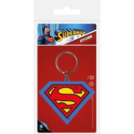 Superman Symbol Rubber Keychain