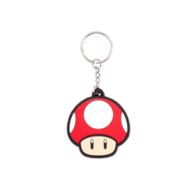 Nintendo Super Mushroom Rubber Keychain