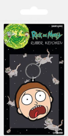 Rick & Morty - Morty Terrified Face Rubber Keychain