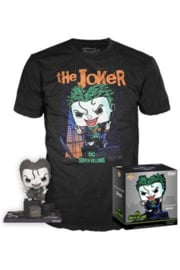 Funko Pop! DC Comics POP! & Tee Box The Joker Exclusive Maat XL