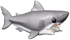 Funko Pop! Movies: Jaws - 6 inch Jaws with Diving Tank
