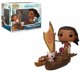 Funko Pop! Rides: Moana - Moana with Pua & Hei Hei on Boat