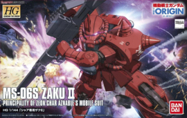 Gundam: High Grade - Char's Zaku II The Origin 1:144 Scale Model Kit