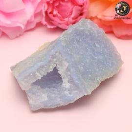 Ruwe Blauwe Chalcedoon (Blue Lace agaat) zonder externe matrix nr. 12