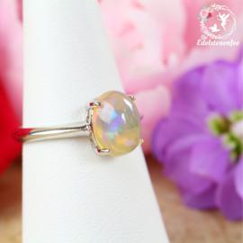 Welo Ethiopische Opaal Ring 7x9mm AAA kwaliteit