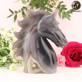 Paardenhoofd Sculptuur van Agaat nr. 6