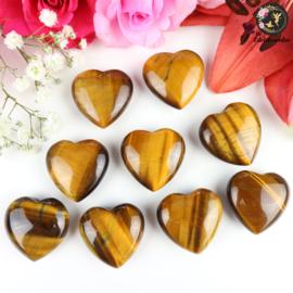 Tijgeroog hart ~ 3 cm