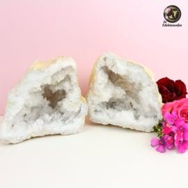 Bergkristal Geode Gekraakt XL