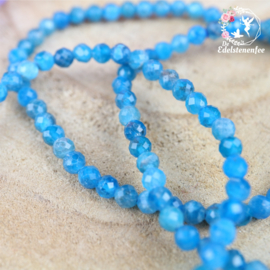 Armband Facet Blauwe Apatiet  4mm