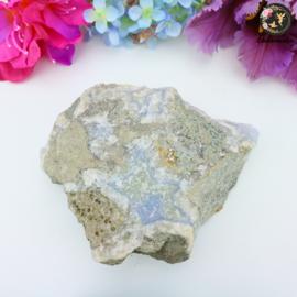 Blauwe Chalcedoon (Blue Lace agaat) ruw nr. 21