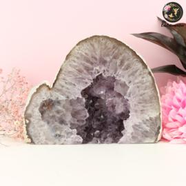 Agaat met Amethist kristallen staand nr. 6