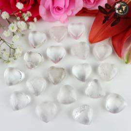 Bergkristal Geslepen Hart ~ 2 cm