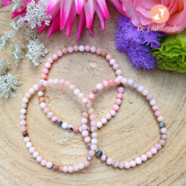 Roze Andes Opaal kogelarmband 4 mm