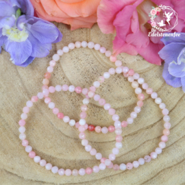 Armband Facet Roze Andes Opaal  4mm