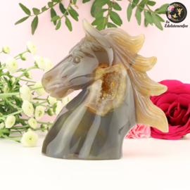 Paardenhoofd Sculptuur van Agaat nr. 5