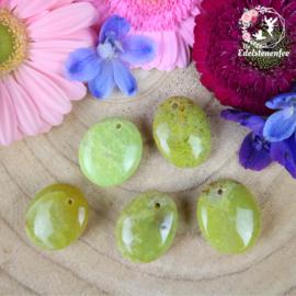 Groene Opaal Amulet Doorboorde Hanger