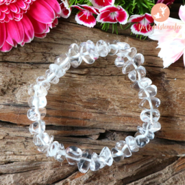 Bergkristal Splitarmband dik Extra Kwaliteit