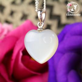 Witte Maansteen Hanger Hart AAA kwaliteit