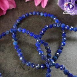 Armband Facet Lapis Lazuli  4 mm