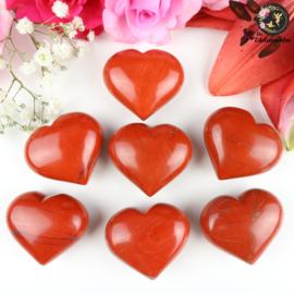 Rode Jaspis hart ~ 4 cm