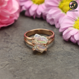 Welo Opaal Fairy   .925 Rosé goldplated Ring
