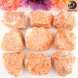 Oranje/Rode Orchidee Calciet ruw maat 2