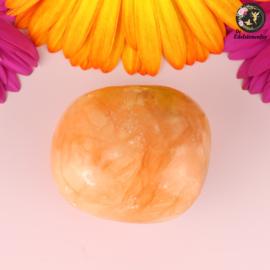 Oranje Calciet handsteen nr. 22