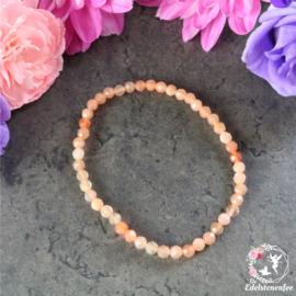 Armband Facet Roze Maansteen  4 mm