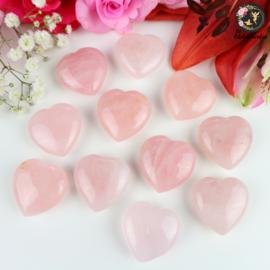 Rozenkwarts hart ~ 3 cm