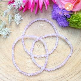 Lavendelkwarts kogelarmband 4 mm