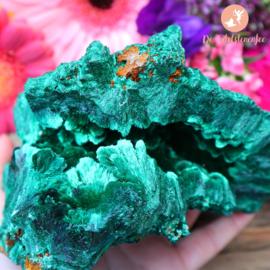 Zijde Malachiet Geode A-kwaliteit nr. 20