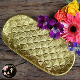 Gouden ovalen schaal