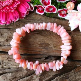 Roze Andes Opaal Splitarmband dik Extra Kwaliteit