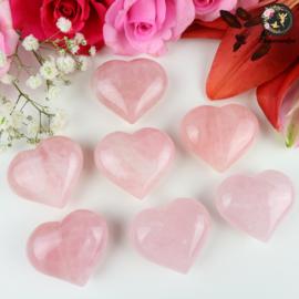 Rozenkwarts hart ~ 4 cm