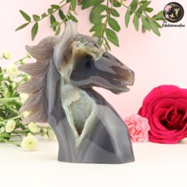 Paardenhoofd Sculptuur van Agaat nr. 2