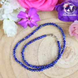 Ketting Facet Lapis Lazuli 4 mm