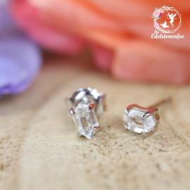 Herkimer Diamant Oorstekers A+ kwaliteit