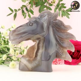 Paardenhoofd Sculptuur van Agaat nr. 7